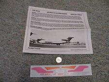 Flight Path decals 1/200 FP20-41 Air West 727-100 Pink / Orange  A24