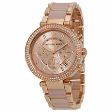 BRAND NEW WOMENS MICHAEL KORS (MK5896) ROSE GOLD BLUSH PARKER WATCH