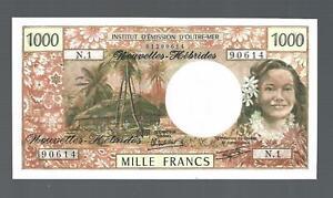 New Hebrides ✨ 1979 1000 Francs ✨ Crisp Uncirculated