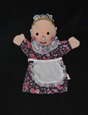 Peluche doudou marionnette TCM TCHIBO robe fleur coiffe dentelle blanc TTBE