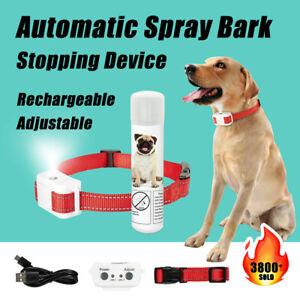 Rechargeable Dog Citronella Anti Bark Spray Collar Training Stop Barking Humane