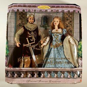 1999 Mattel Ken & Barbie as Camelot's King Arthur & Queen Guinevere DMG BOX -NEW
