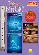 Disney Magic Learn & Play Recorder Pack 3 Songbooks + Recorder New 000144054