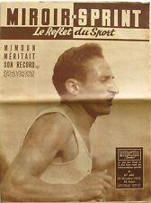 Miroir Sprint n°490 - 1955 - Mimoun Record - Coppi / Darrigade - Valignat Ferrer