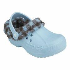Blitzen Lumberjack Plaid Brown/Light Blue  Lined  Crocs  Little Boys  Size  8/9