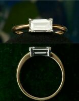 1.60ct Emerald Diamond 14K Rose Gold Fn Vintage Engagement Wedding Ring