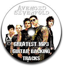 AVENGED SEVENFOLD STYLE HEAVY METAL ROCK GUITAR MP3 BACKING TRACKS CD COLLECTION