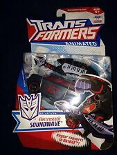 TRANSFORMERS ANIMATED Deluxe Electrostatic Soundwave With Ratbat New Misb