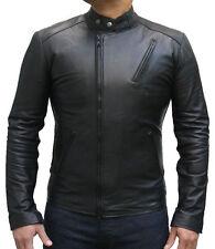 Iron man en cuir hommes veste de motard, brand new black bomber veste manteau designer