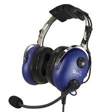 SL-900M SkyLite Pilot Aviation GA Headset blue wt Mp3 input, Dual Plug Free Bag