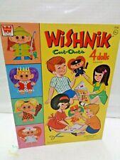 Wishnik Troll doll Whitman Paper doll book 1965 unused 1960s cute Original