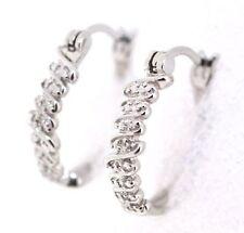 Orecchini con diamanti in argento sterling