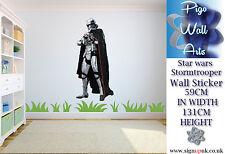 Etiqueta engomada de la pared de Star Wars Galactic Storm Trooper Dormitorio de Niños Pared Calcomanía Mural.