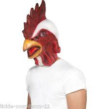 Smiffy'S MEN'S CHICKEN GALLO GALLINA sopra la testa Costume Maschera Addio Al Celibato Divertente Fattoria