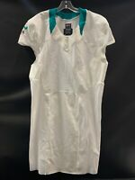 MIAMI DOLPHINS TEAM ISSUED BLANK ON FIELD WHITE JERSEY SZ 48 +6 W/ CUT SLEEVES