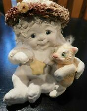 Dreamsicles Figurine Cherub Angel Holding a Cat