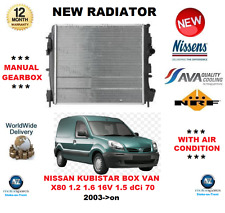 FOR NISSAN KUBISTAR BOX VAN X80 1.2 1.6 16V 1.5 dCi 70  2003->on NEW RADIATOR