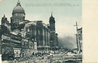 SAN FRANCISCO CA - City Hall from Larkin Street After Earthquake and Fire - udb