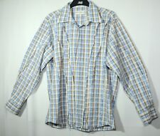 BLUE BEIGE WHITE CHECK GENTS CASUAL SHIRT SIZE XXL POETIC JUSTICE