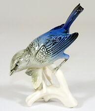 ENS - Porzellanfigur SINGVOGEL blauer Vogel - Alte Mühlenmarke - THÜRINGEN
