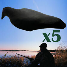 5pcs Full Body Flocked Shooting Hunting Crow Decoy Realistic 3D Pull Covers