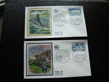 FRANCE - 2 enveloppes 1er jour 1968 1969 (cy28) french