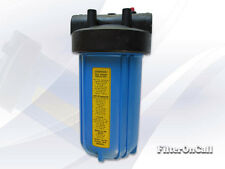 """10"""" Big Blue Whole House Water Filter Housing 3/4"""" Ports High Flow Applications"""
