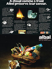 PUBLICITE ADVERTISING 044  1973  ALBAL   emballage alimentaire