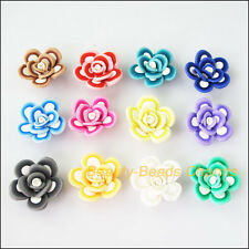 5Pcs Mixed Polymer Fimo Clay Star Flower Spacer Beads Charms 25mm