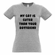 Cats Animals Womens TShirt Cat Cuter Than Your Boyfriend Kitten Pet Relationship