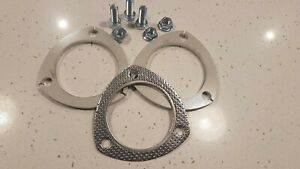 """Stainless 3"""" exhaust flange set kit 3 bolt style commodore falcon"""