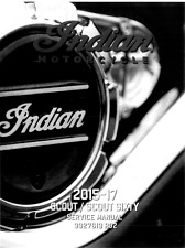 Indian Scout / Scout Sixty motorcycles 2015 2016 2017 service manual ring binder