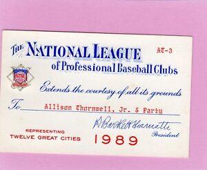 1989 Mike Schmidt Ticket Pass Last HR 548 Life/Last Hit 2234 Life Phillies Nr Mt