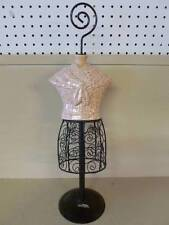 "Jewelry Necklace Earring Stand Female Dress Torso Body 21"" Hooks with Porcelain"