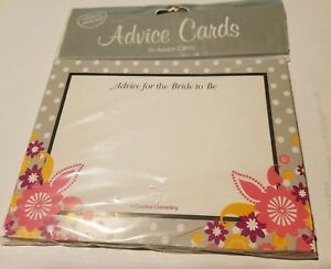 20 Pack Advice For the Bride-to-be, Bridal Shower Advice Cards I do cake