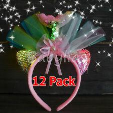 Mermaid Unicorn Flashing Headbands Sequins Horn Favors LED Unicornio Light Up 12