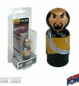 Star Trek The Next Generation Worf Pin Mates Wooden Figure Designer Art Toy NEW