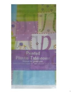 """New Baby Patchwork Table Cover, Baby Shower Table Cloth Mom-to-be  - 54"""" x 108"""""""