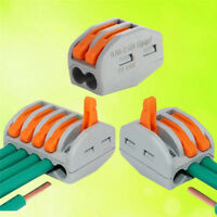 2/ 3/ 5 Way Reusable Spring Lever Terminal Block Electric Cable Connector Wire 1