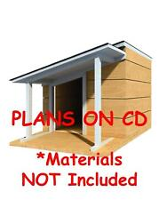 """36"""" x 48"""" Dog House Plans - Lean To Roof - Pet Size To 100 lbs - Med. Dog - 13"""