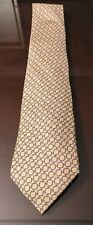Hermes Silk Tie Made in France Yellow Authentic