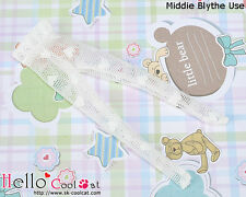 ☆╮Cool Cat╭☆【MP-07】Middie Blythe Doll Pantyhose # Net White Mini Heart
