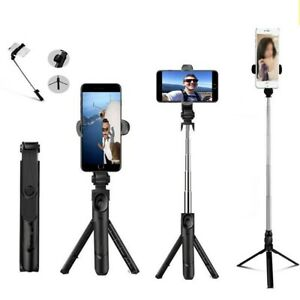 Telescopic Selfie Stick Bluetooth Tripod Monopod Phone Holder For Cellphone