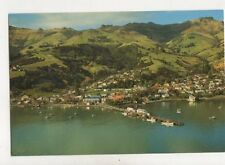 Akaroa Waterfront Canterbury New Zealand Postcard 037b