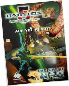 Babylon 5 CCG - The Great War - Promotional Sell Sheet - Precedence 1998