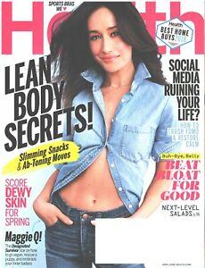 HEALTH Magazine April 2018 Maggie Q Lean Body Secrets Beat Bloat For Good Salads