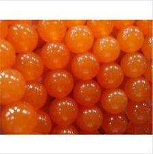 8mm  Orange South America Topaz Loose Bead 15'
