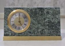 Stuart Austin Green Marble Granite Desk Mantle Quartz Alarm Clock