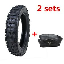 """Pair of 3.00 - 10 80/100 - 10""""Inch Rear Knobby Tire 50/70/90/125cc Pit Dirt Bike"""