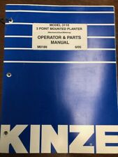 Kinze Model 3110 3 Point Mounted Planter Operator and Parts Manual 6/05
